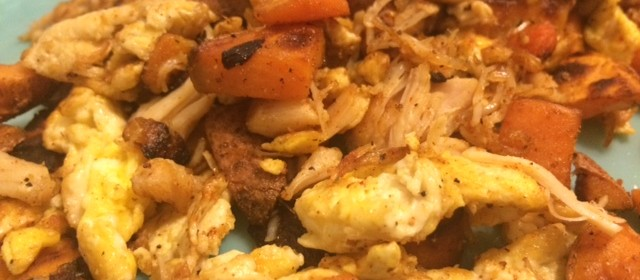Spicy Sweet Potato Breakfast Scramble Recipe