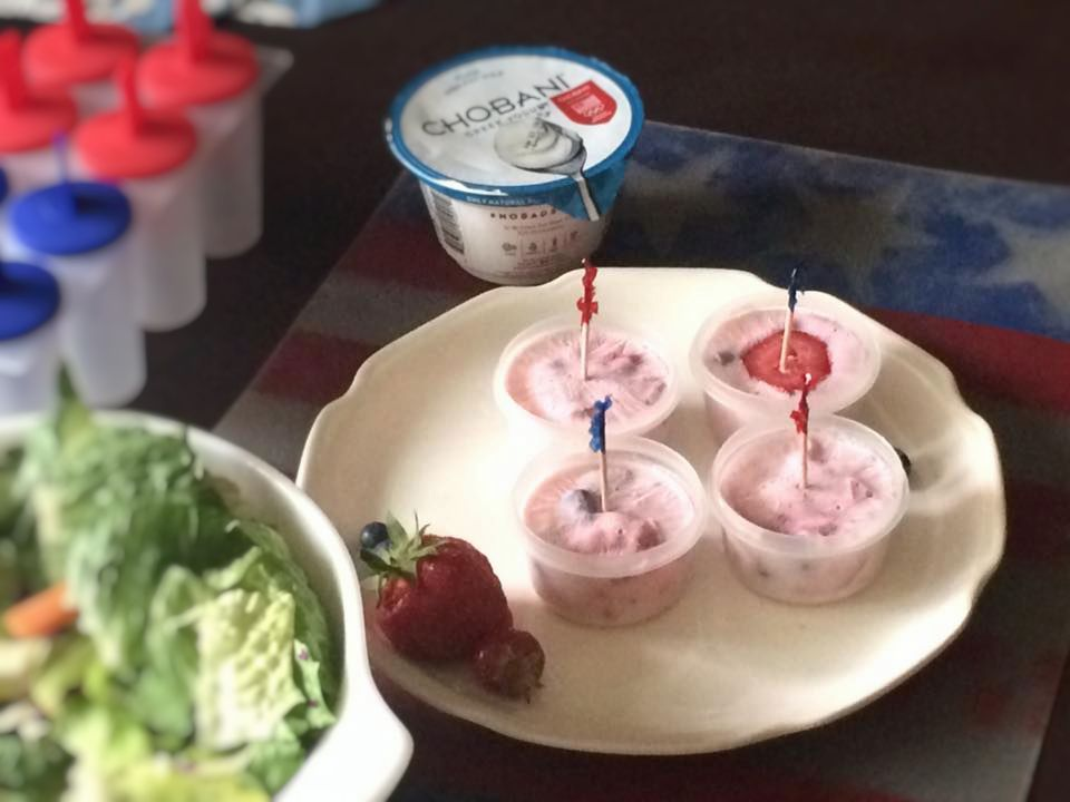 Frozen Yogurt Fruit Pops